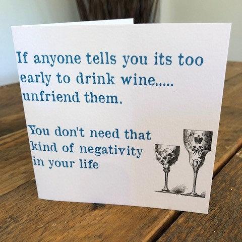 unfriend them negativity greeting card