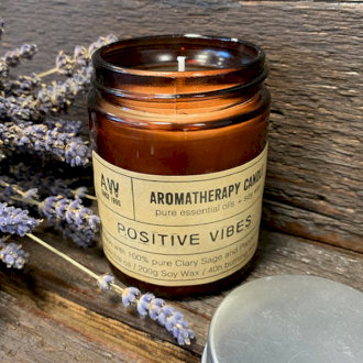 Large Aromatherapy Candle - Positive Vibes