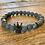 Thumbnail: Unisex Crown Black Agate Gemstone Bracelet (stability*wellbeing*endurance)