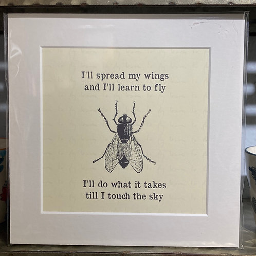 fly  learn how to fly mounted print