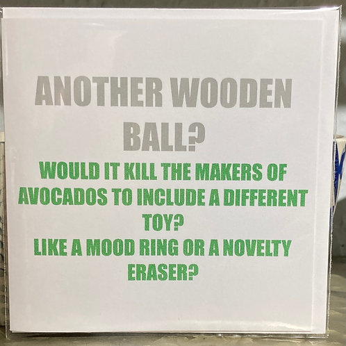 Another wooden ball .... greeting card