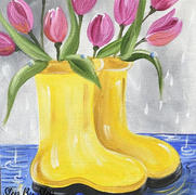 Tulips In Yellow Boots