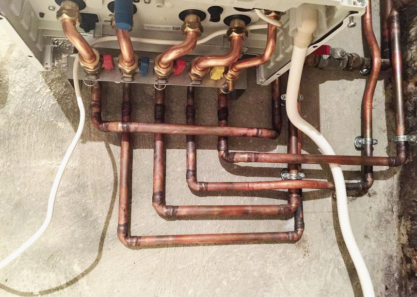 Chaudière à condensation Saunier Duval / Combination boiler installation (Rueil-Malmaison)