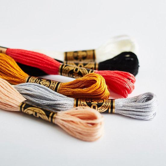 DMC Stranded Cottons No.s 01-799