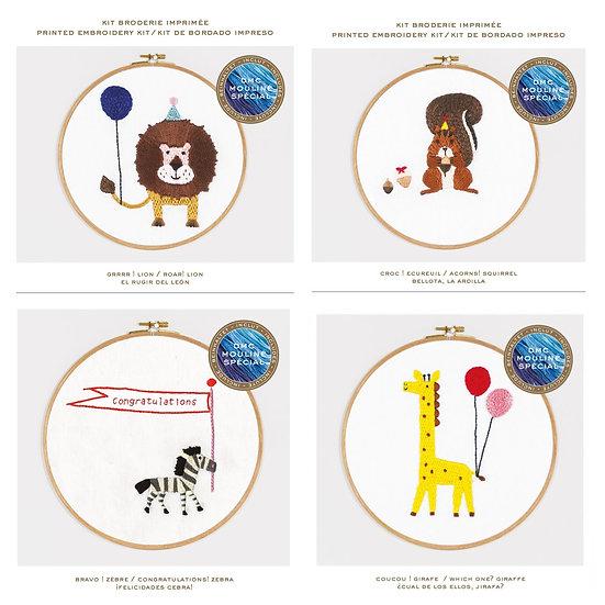 Animal Celebrations - DMC Embroidery kits