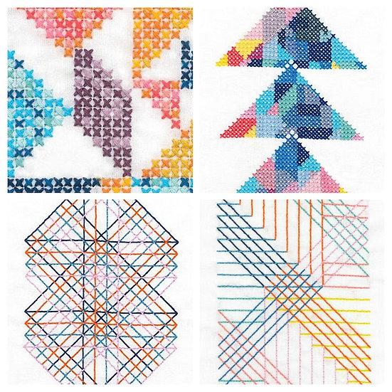 Geometry Rules - DMC Embroidery kits