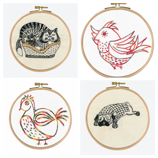 Printed Embroidery Kits