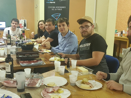 Raclette de lancement !