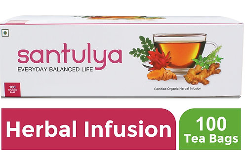 SANTULYA Certified Organic Herbal Infusion  100 Tea bags