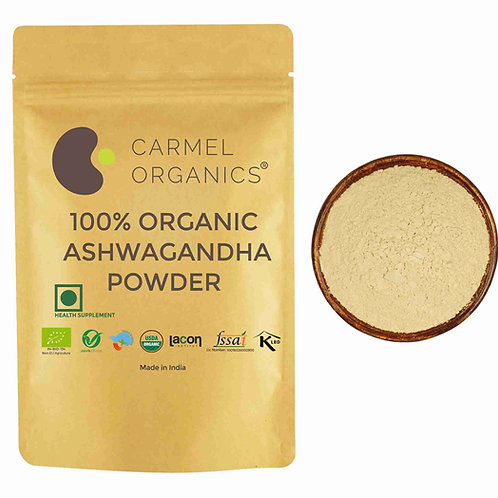 Carmel Organics Organic Ashwagandha Powder (340 Grams)