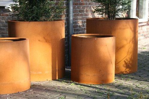 Bac acier corten Cylindre