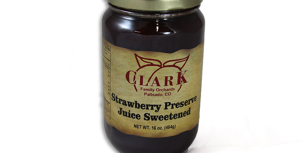 Strawberry Preserves Juice Sweetened