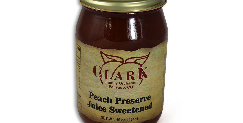 Peach Preserves Juice Sweetened