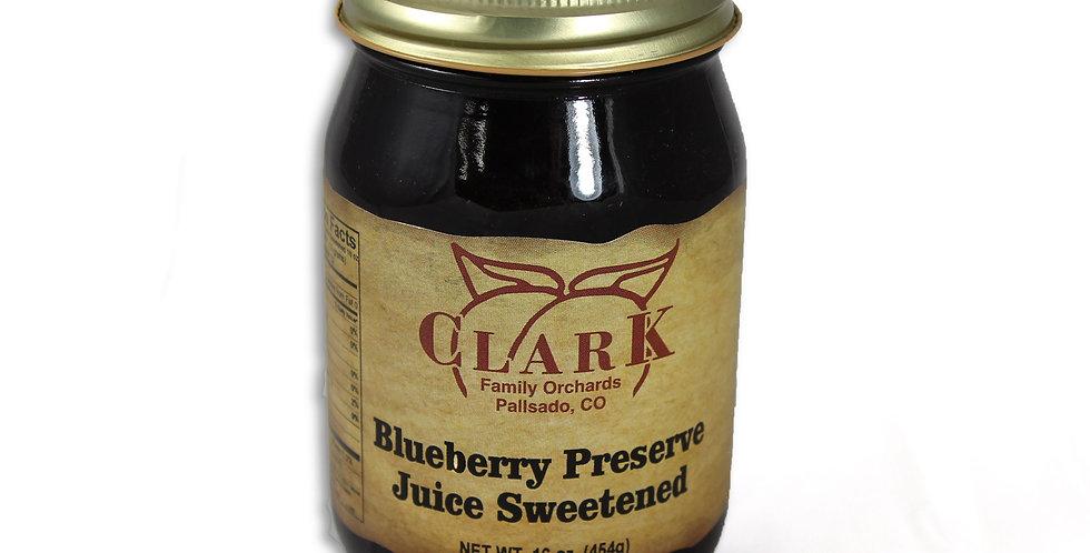 Blueberry Preserves Juice Sweetened