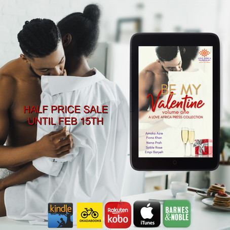 Five fab Valentine stories for half the price | BE MY VALENTINE VOL 1 #AARomance @LoveAfricaPress