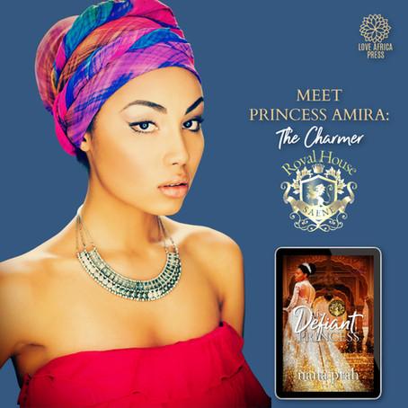 #InTheHotSeat Princess Amira from His Defiant Princess by @NanaPrah #Interracial #Romance