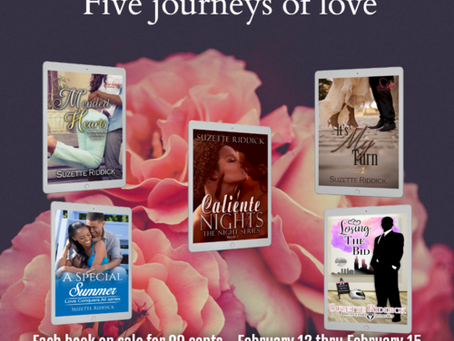 Take a journey through the lives of five couples as they discover love @SuzetteRiddick #99c #Romance