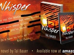 Whisper by Tal Bauer @TalBauerWrites #GayRomance #PoliticalRomance
