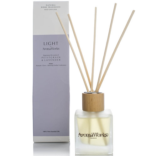 AromaWorks Light Range Reed Diffuser - Petitgrain and Lavender 100ML