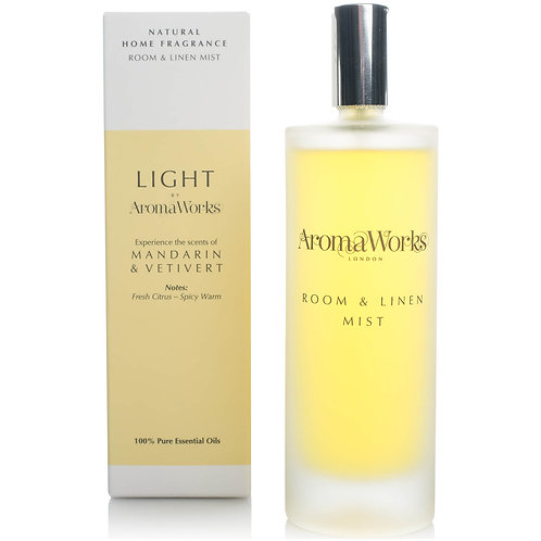 AromaWorks Light Range Room Mist - Mandarin and Vetivert 100ml