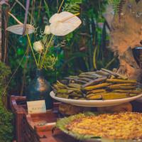 Dessert bar has cassava and suman , Filipino Favorites