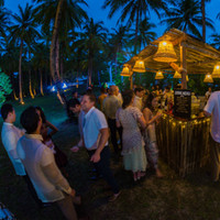 Bar hits at night in Punta Dolores, Siargao Philippines