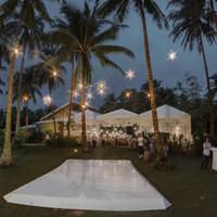Island dancefloor for the Siargao wedding couple