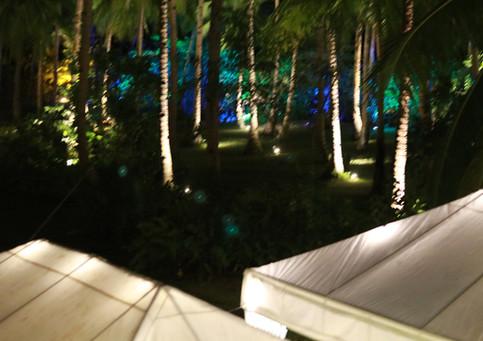 Illuminated tents in Punta Dolores Wedding Venue