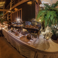 Tropical Island wedding buffet in Siargao, Philippines at Punta Dolores Homestead wedding venue