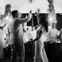 A toast for the couple on their wedding day