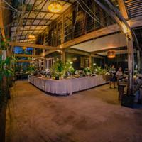 Buffet display in Siargao Island Wedding venue