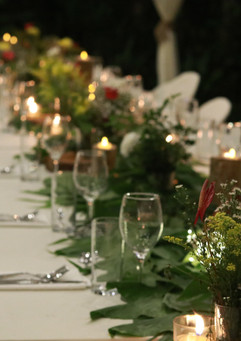Long tables for Buffet dinner affairs
