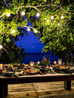 Evening Dinners were never as romantic as they can be at Our Beachfront Deck in Punta Dolores, Union
