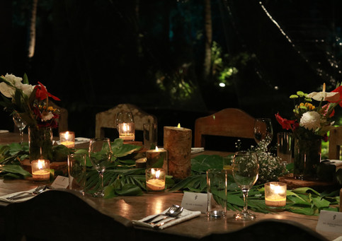 Local foliage to spruce up dining tables