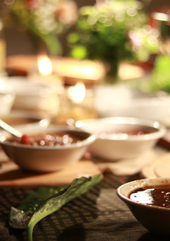 Filipino flavors are bursting in each bowl for the buffet by Punta Dolores