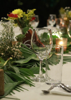 Table ware for a wedding buffet