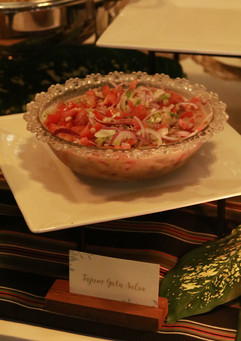 Kinilaw is fresh fish marinated in coconut milk and other vegetables