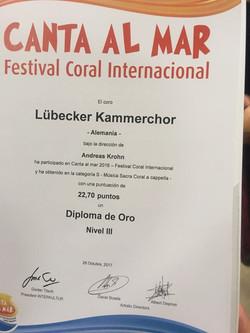 Diploma de Oro 2017 (©privat)