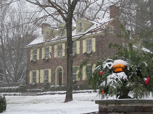David Barton House in winter
