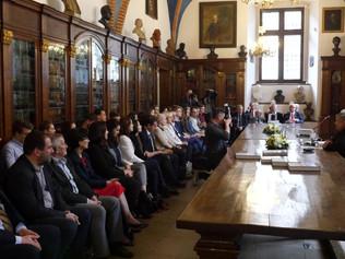 Slávnostná prezentácia kompletného diela Przedsiębiorstwo i przedsiębiorczość v Collegium Maius Jage