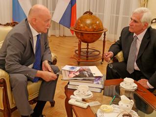 Profesor Štefan Kassay sa stretol s veľvyslancom Ruskej federácie J.E. Alexejom Leonidovičom Fedotov