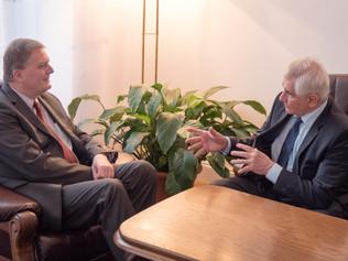 Profesor Kassay na prijatí upoľského veľvyslanca hovoril ovýsledkoch konferencie Nová Európa