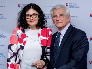 Ministerka Martina Lubyová prijala profesora Štefana Kassaya