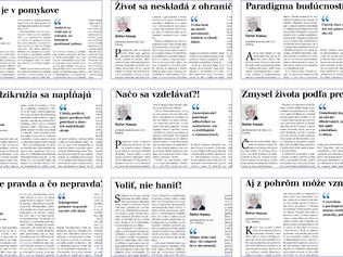 Dvadsaťosem komentárov ablogov Štefana Kassaya – aj tento rok v knižnom vydaní