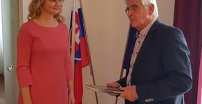 Pracovné stretnutie na veľvyslanectve SR vHelsinkách