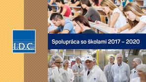 I.D.C. Holding, a.s. – Spolupráca so školami 2017-2020