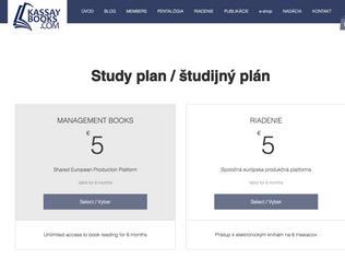 Študijný plán RIADENIE vo forme elektronických kníh dostupný online