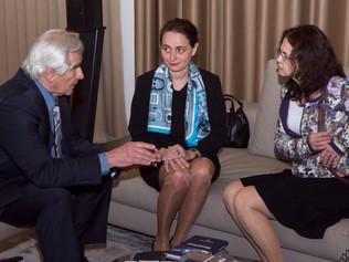 Bulharská veľvyslankyňa J.E. Yordanka Chobanová aprof. Štefan Kassay rokovali oďalšej spolupráci