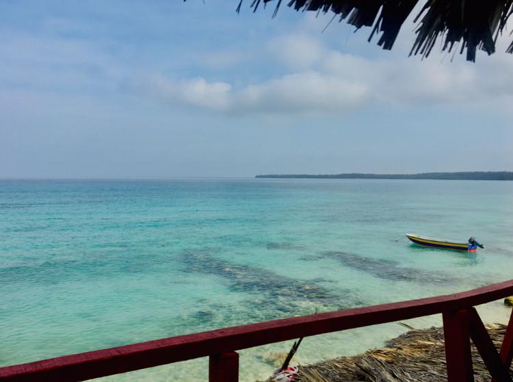 Vue depuis l'hôtel de Isla Baru, Colombie