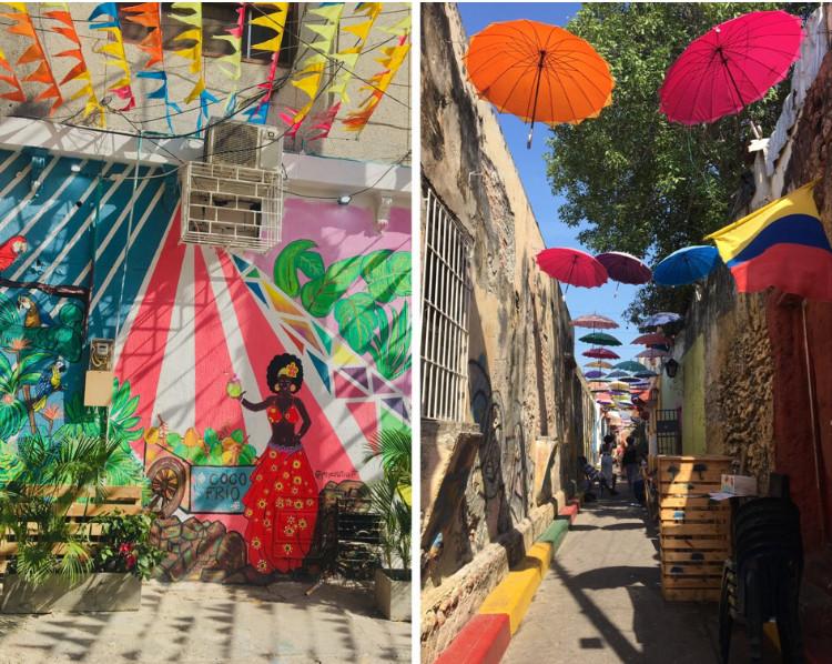 Les rues colorées de Cartagena
